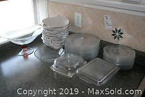 Clear Dishware and Lidded Serving Dishes A