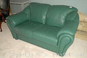 Leather Love Seat - C