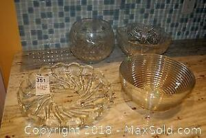 Crystal and Glass Bowls A