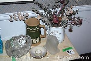 Crystal Bowl And Copeland Pitcher A