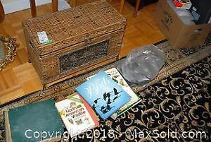 Wicker Chest, Tapes, CDs And Vinyl Records - B