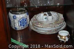 Antique Biscuit Jar And More- A