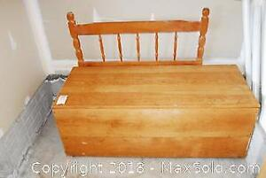 Large Pine Storage Container And Solid Wood Headboard C