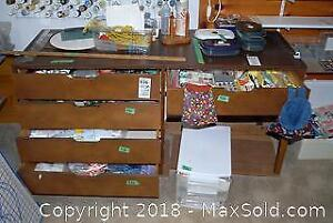 Wooden Cabinet Drawer Contents and Storage Bin D
