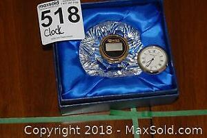 Waterford Crystal Table Clock -A