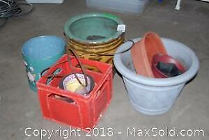 Assorted Planters And Pots B