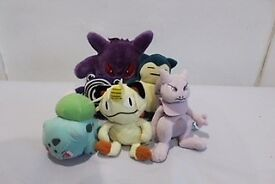 Assorted Pokemon Cuddly Toys