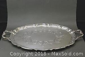Large Silver Plated Trays Lot