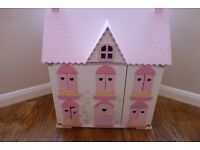 ELC ROSEBUD DOLLS HOUSE COMPLETE WITH FURNITURE AND DOLLS RRP £300