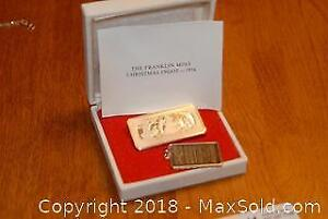 Franklin Mint Sterling Silver Bar and Johnson Matthey Sterling Silver Bar A