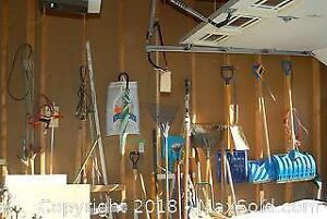 Wall Of Tools In Garage- B