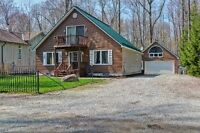 3 bed 2 bath One of a Kind Home on a Private Treed Lot