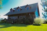 Beautiful Log Home only 18 mins to kingston