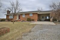 3 bed 2 bath Open Concept Bungalow on a 1/2 Acre Country Lot