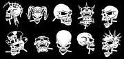Mini Skull Stencil