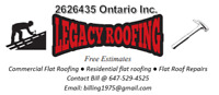Legacy Roofing your flat roof specialist