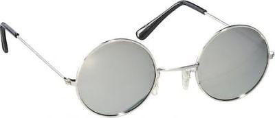 silberfarbene einfache Rundglas Brille Steampunk - Einfache Steampunk Kostüm