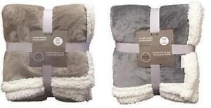 Luxury Solid Sherpa Plush Blanket