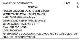 IMAC 27in 5K - Almost Brand New - 1tb Fusion Drive - 3.6GHz