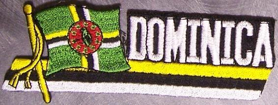 Embroidered International Patch National Flag of Dominica NEW streamer