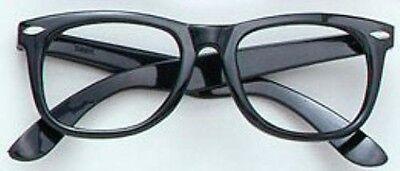 - Austin Powers Michael Cane Style Black Frame Geek Glasses Fancy Dress NEW