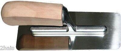 1 Venezianische Glättekelle Holzgriff 200 80 mm Glattkelle poliert Kelle Glätter