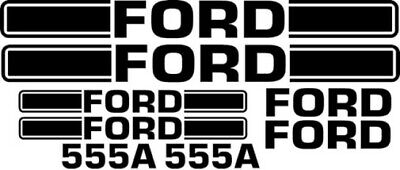 Ford 555a Loader Tractor Decal Set Sticker Backhoe A Kit 555 Lk