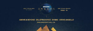 Bud Light Dreams - GA 2 Day Hard Copy Tickets @ Echo Beach