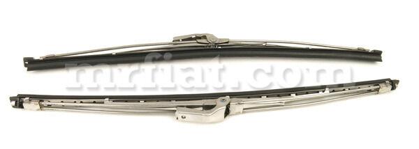 "Alfa Romeo Gt Junior Gtv Stainless Steel 13"" Wiper Blades Stick Type Set New"