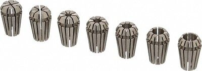 Etm 7 Piece 0.79 To 6.35mm Capacity Er Collet Set Series Er11 Increments O...