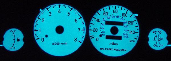 1995-2000 Dodge Avenger W/ Oil Glow Gauges Face Overlay 96 97 98 99
