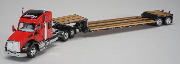 1/64 DCP Case IH - Kenworth T880 Sleeper Cab with Fontain Renegade Lowboy