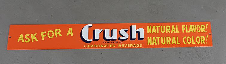 """24"""" ORANGE CRUSH SODA POP Door Bar Push Sign modern retro"""