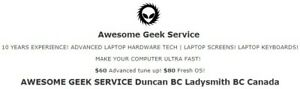 DUNCAN BC, Computer Repair! The BEST DEAL IN DUNCAN + AREA!!!
