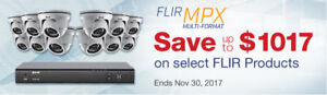 FREE--4 FLIR HD SECURITY CAMERAS, DVR  -----FREE with alarm