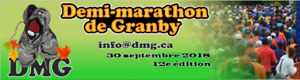 Dossards (2) course Demi-Marathon de Granby 30 septembre 2018