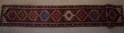Handmade Isfahan Persian Rug Hallway Runner Size:62x396cm Genuine