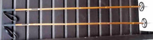 SKI POLES BAMBOO MADE IN NORWAY 59 INCHES  Long USED VERY LIT