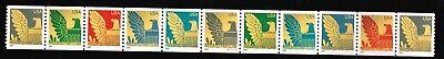 3844-3853 American Eagle   2004 MNH OG   PNC #S1111111 Coil Strip of 11x25c