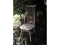 Vintage Ercol-type painted high-backed chairs