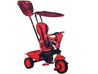 Red 4 in 1 Smart Trike - good condition