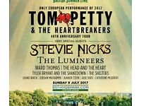 Tom Petty and the heartbreakers ticket for sale Golden circle Hyde Park 9th July