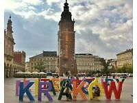 2 tickets to Krakow 7-11th November 2017.