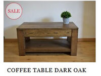 Wooden Table 100% SOLID OAK Handcrafted Coffee Table - WAS £395 NOW ONLY £195!
