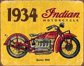 """Indian Garage or Man Cave Tin Signs """"NEW"""""""
