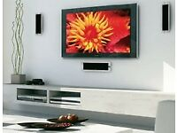 Plasma and LCD TV's wall mounted. Discrete cabling.