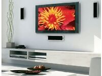 Plasma and LCD Tvs wall mounted. Discrete cabling