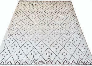 ourain thecitizenry moroccan products hand citizenry morocco bluetriangle rahma rug the knotted left rugs beni