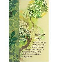 Serenity Prayer Journal by Christian Art Gifts Hcover NEW