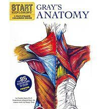 Gray's Anatomy: A Fact-Filled Coloring Book [With Poster] by Freddy Stark NEW